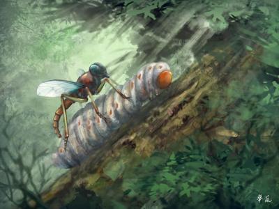 """白垩纪缅甸琥珀中发现拟寄生的虻类昆虫""""夏氏针虻"""""""