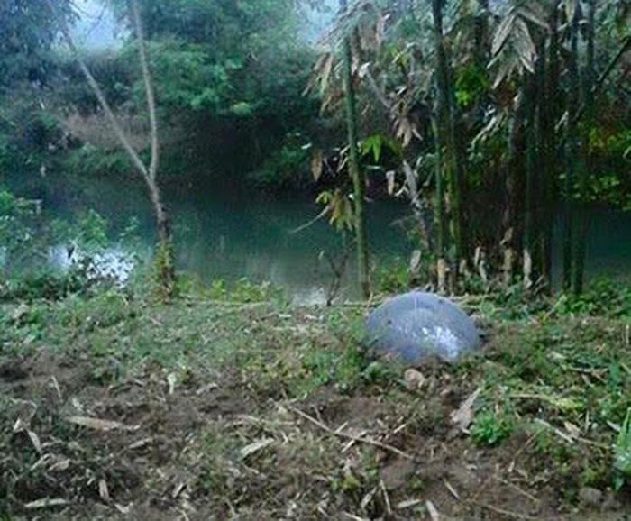 最后一颗球体重约45公斤,落在宣光省(Tuyen Quang)的一条河流附近。