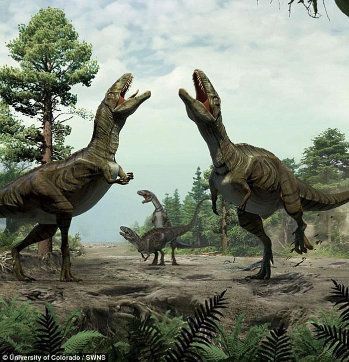 """最新研究发现恐龙懂得""""史前爱抚前戏"""" 交配前用爪子在地面上挖""""爱巢"""""""