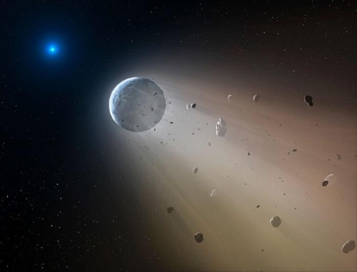 K2项目在一颗白矮星周围发现了行星残骸
