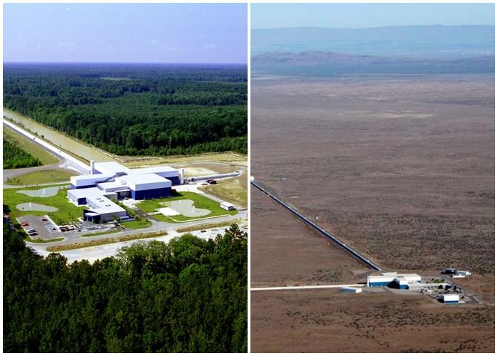 克劳斯称LIGO位于华盛顿州(右图)及路易斯安那州(左图)的设施,探测到重力波讯号。
