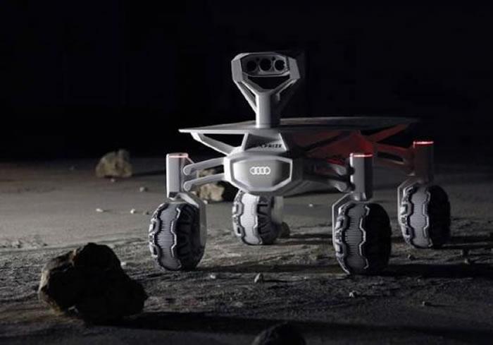 奥迪推出配备Quattro全轮驱动系统的全新月球车Lunar Quattro
