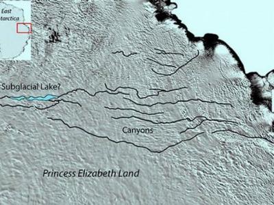 世界上最大的峡谷可能位于南极洲东部伊丽莎白地区冰原之下