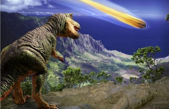 恐龙不知道它们会被流星毁灭。