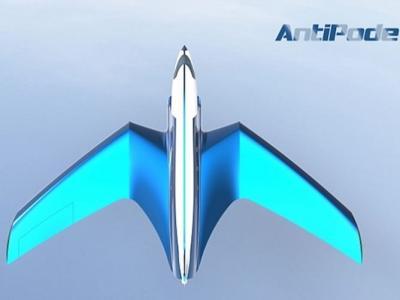 加拿大庞巴迪发表全新超音速概念客机Antipode 纽约飞往香港只需26分钟