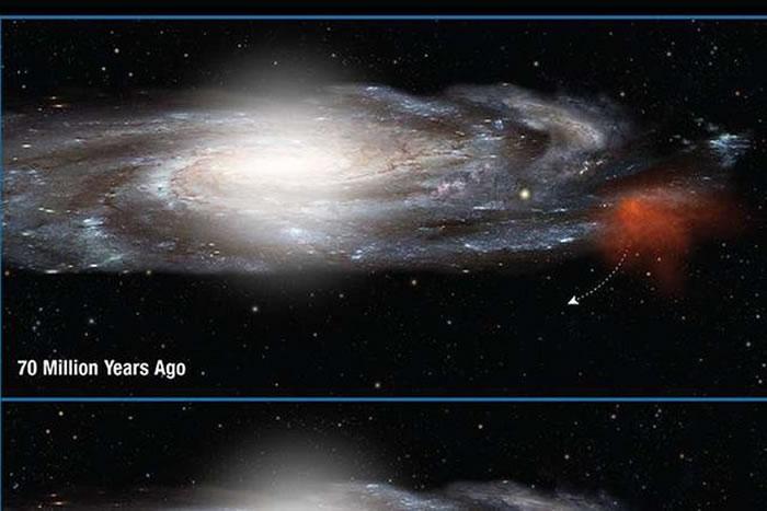 """""""史密斯云""""""""离家出走""""7000万年后正以每小时近113万公里的高速回归银河系"""