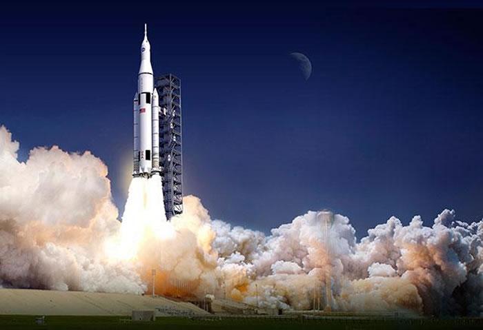 """美国航天局大推力运载火箭""""太空发射系统""""将在2018年执行首次飞行任务"""