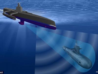 """美国海军计划部署""""幽灵猎者""""无人舰(ACTUV)搜索敌国柴电动力潜艇"""