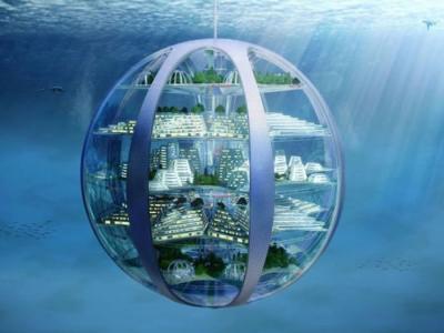 未来水世界:人类百年后或居气泡城市