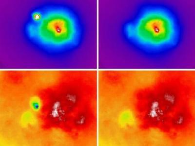 天文学家最新拍摄图像显示两个年轻星系团处于合并状态