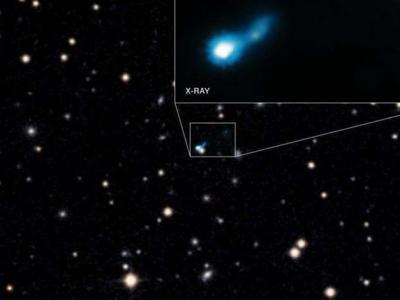 发现被宇宙古老光线照亮的超大质量黑洞喷流