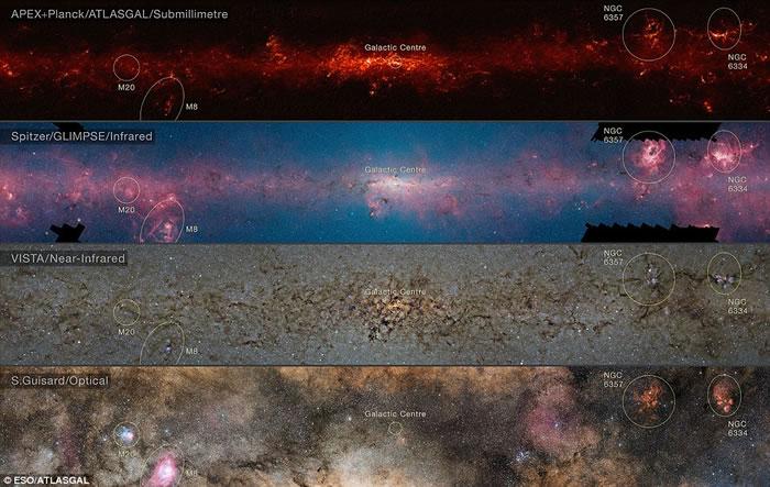 欧洲南方天文台发布迄今最详尽的银河系天图