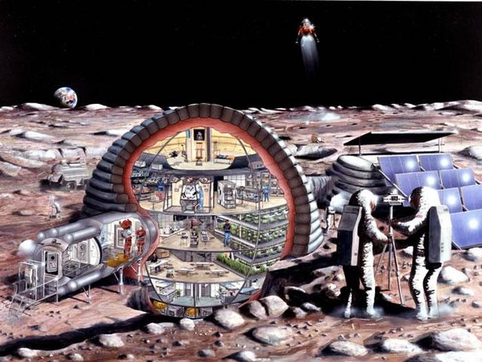 月球基地效果图
