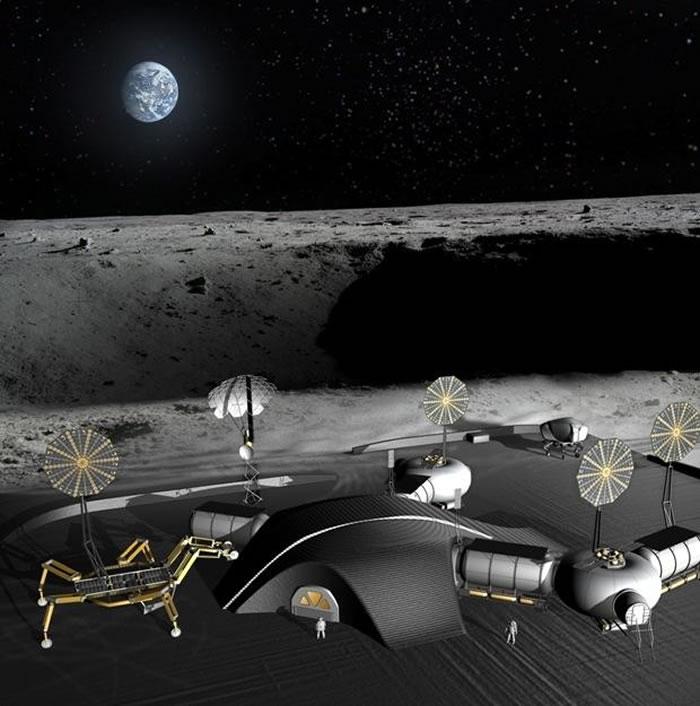 月球两极基地效果图