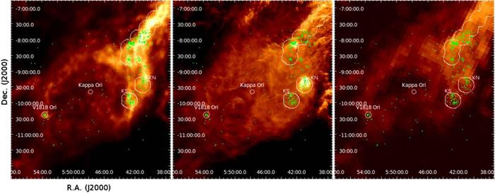 科学家认为年轻的恒星是非常强大的X射线发射源,我们经常可以探测到X射线在年轻恒星周围的气体团和尘埃结构中透射出来