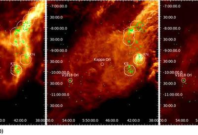 最新观测发现猎户座参宿六恒星周围出现奇特环结构