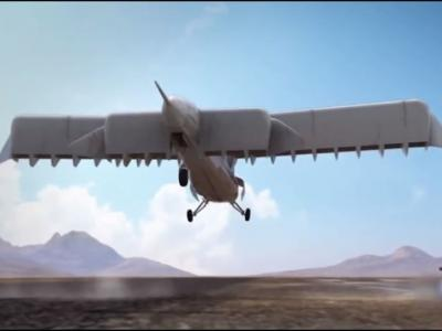 """美国研发可垂直升降的新概念无人飞机""""雷击""""(LightningStrike)"""