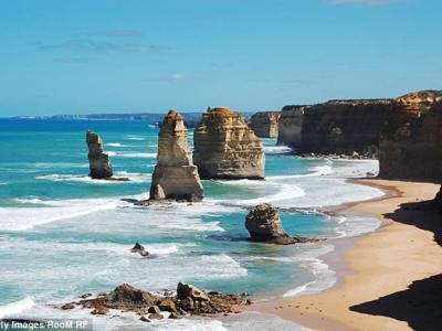 澳洲维多利亚省著名景点十二门徒石对开海底再发现多5块新的石灰岩
