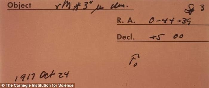 科学家发现卡内基天文台保存的一张1917年太空底片是最早发现系外行星的证据,这比之前发现首颗系外行星的时间早75年。