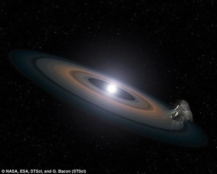天文学家知道范马南星和其它含有重元素白矮星的光谱中呈现具有岩石行星残留物质的行星系统特征,这些沉积残骸物质进入恒星大气层。