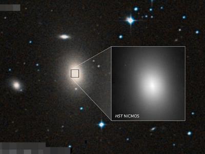 美国华裔女天文学家马中珮团队在宇宙偏远处发现超大黑洞 位于NGC 1600星系中心
