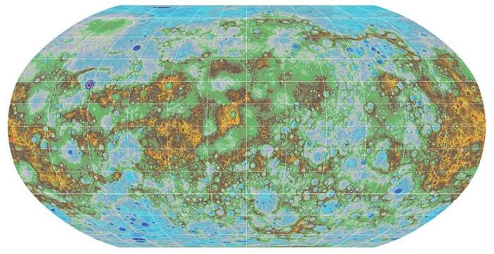 地形图有如行山地图,清楚标明地表高度。
