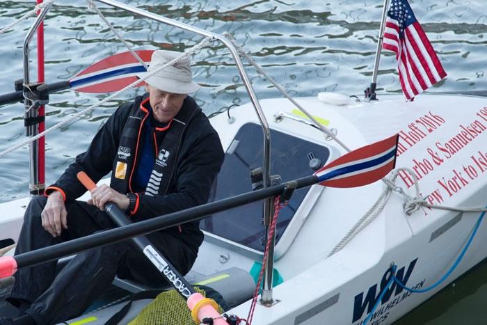 70岁挪威男子展开壮举独自划艇横渡大西洋