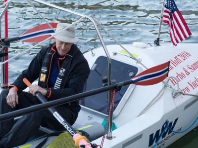 70岁挪威男子展开壮举 独自划艇横渡大西洋