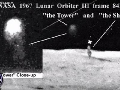 "YouTube频道""secureteam10""发布片段:月球表面现神秘巨柱 外星人早已占领?"