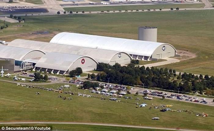 美国俄亥俄州空军基地附近拍到外形奇异的不明飞行物UFO