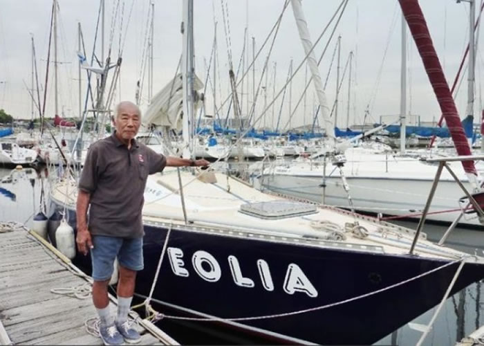 立尾征男将挑战驾驶帆船不靠港,环绕世界一周。