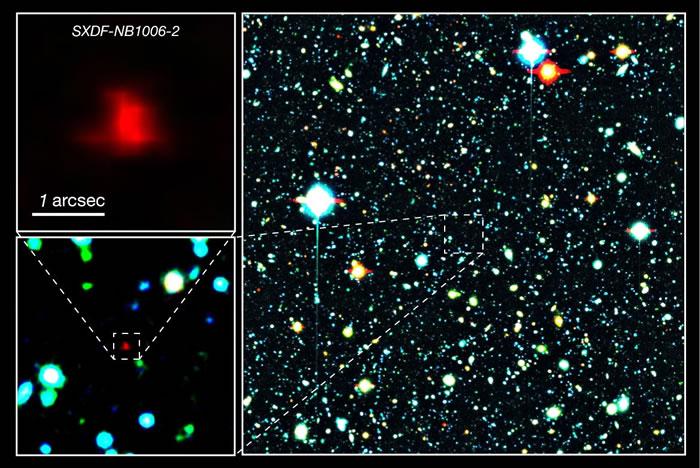 宇宙中最古老的星系SXDF-NB1006-2保存着最古老的氧气