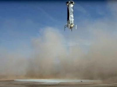 美国贝索斯太空公司Blue Origin第4度成功回收新谢泼德火箭