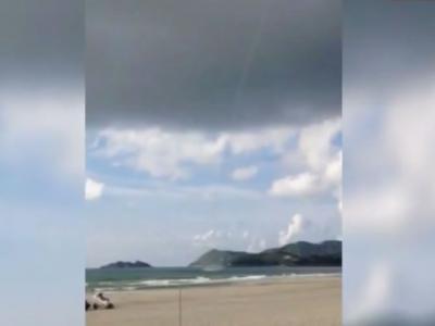 广东江门台山上川岛再度出现龙卷风