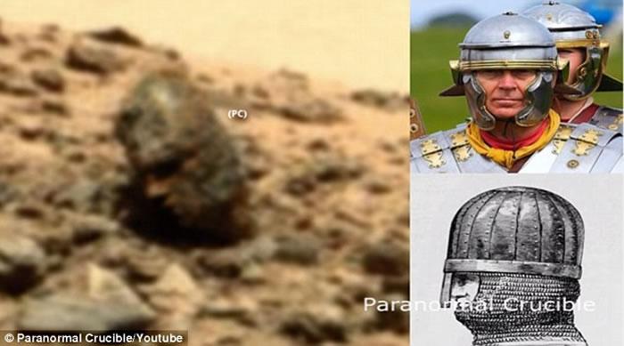 "UFO猎手声称在火星表面发现奇怪的""罗马风格""岩石头像"