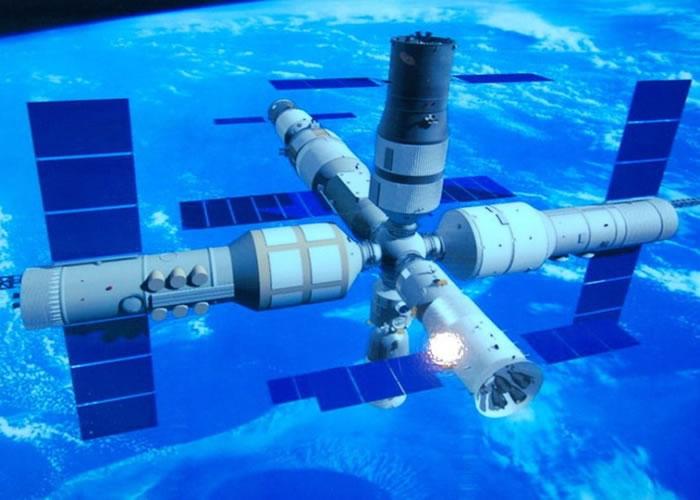 """""""天宫二号""""计划于9月发射升空。图为""""天宫二号""""效果图。"""
