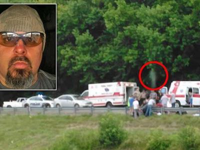 美国肯塔基州死亡车祸现场拍到往生者灵魂出窍瞬间