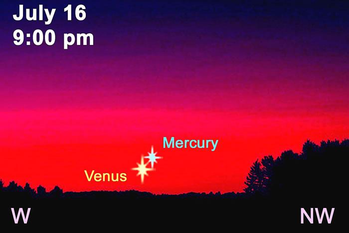 2016年7月17日金星合水星
