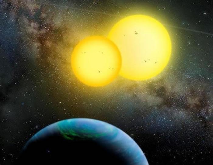 据估算,主恒星质量大约为1.8个太阳质量,半径约为太阳的2.5倍,另一颗恒星就显得更小,只有0.4个太阳质量,半径仅为太阳的1.3倍