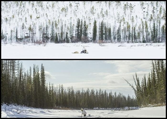 双方战场是一片大雪地。