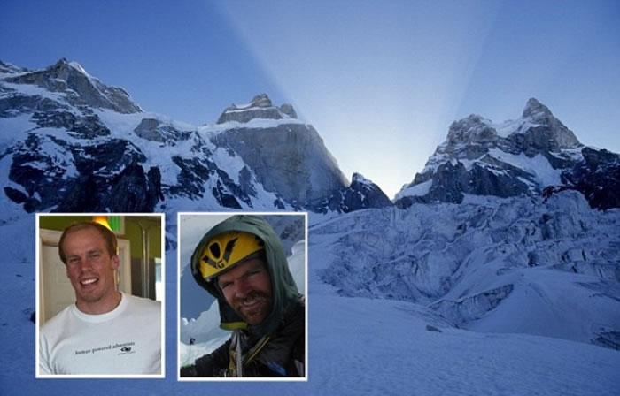 登普斯特(左小图)与阿当逊(右小图)在巴基斯坦登山时失踪。
