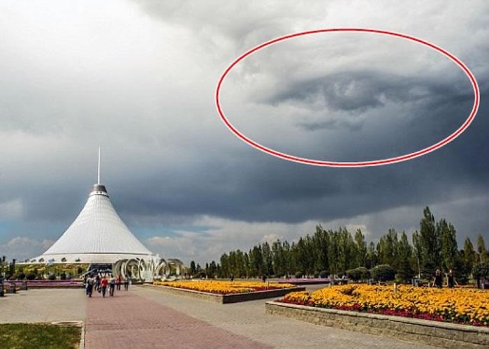 云层(红圈)仿似长了眼睛。