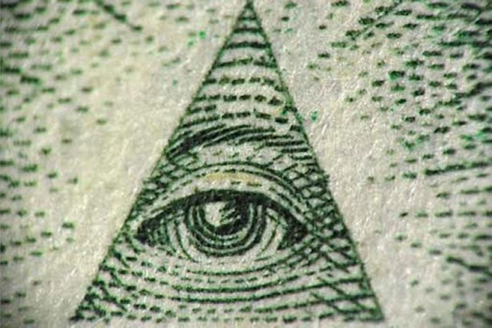 """图为光明会的""""金字塔之眼""""。"""