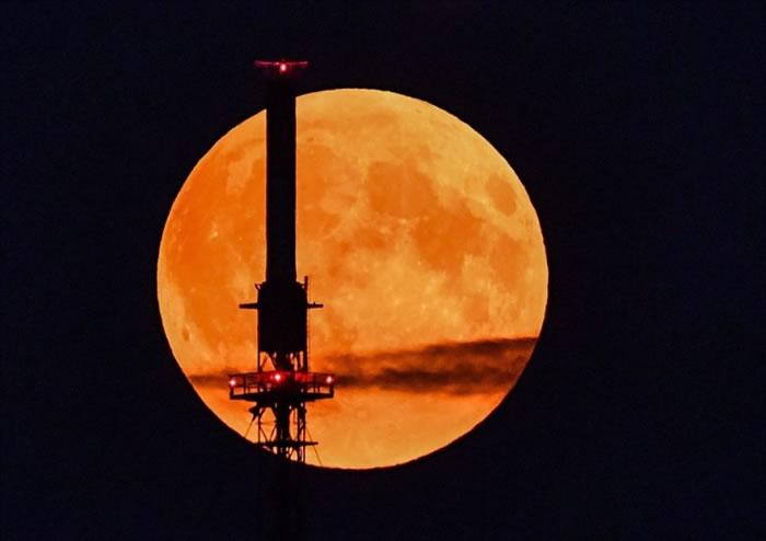 德国的满月带着诡异的橘色。