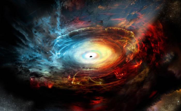 原来黑洞藏在自己的废气中