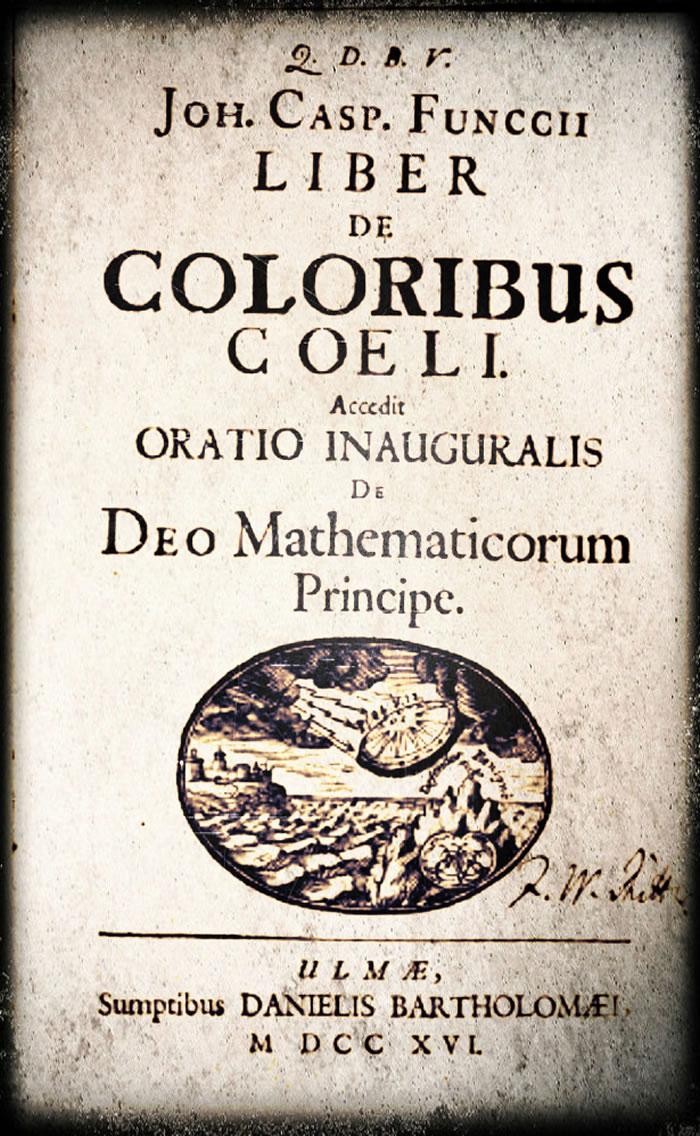 专家称UFO在300年前便访问了地球 事件印在18世纪数学著作封面上