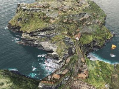 """英国康瓦尔郡发现王室碉堡遗迹 凯尔特族的顿诺尼亚王国""""黑暗时期并不黑暗"""""""