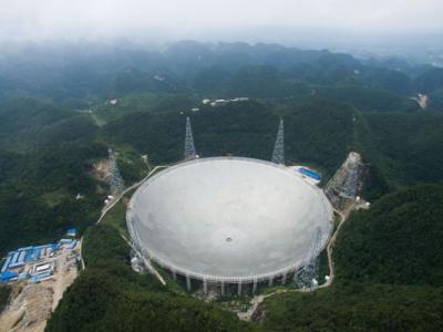 中国500米口径球面射电望远镜正式启用 成功接收到1351光年外脉冲星讯号