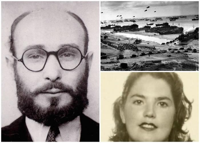 佩奥尔(左图)以苦肉计欺骗妻子(右下图),令盟军反攻计划得以顺利执行。