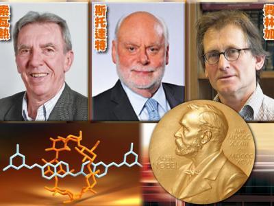 """研究""""分子机器的设计与合成"""" 欧美3位科学家夺诺贝尔化学奖"""